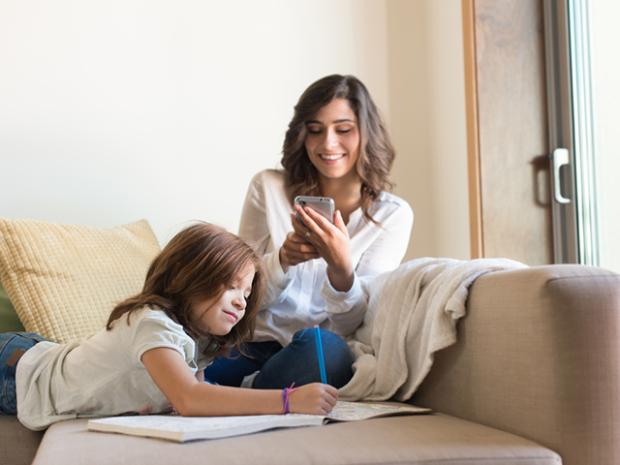 Shutterstock-Mom-Using-Phone